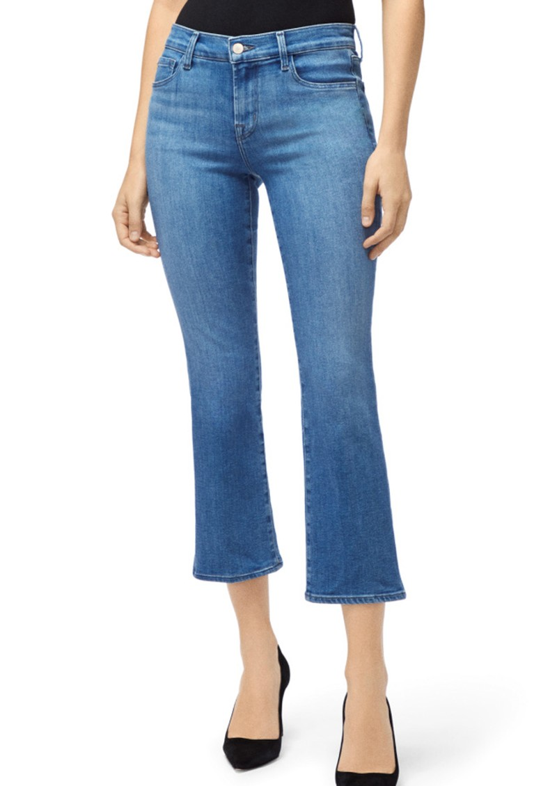 J Brand Selena Mid Rise Cropped Boot Cut Jeans - True Love main image