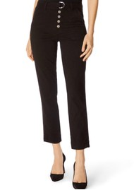 J Brand Kyrah High Rise Cropped Cigarette Pant - Black