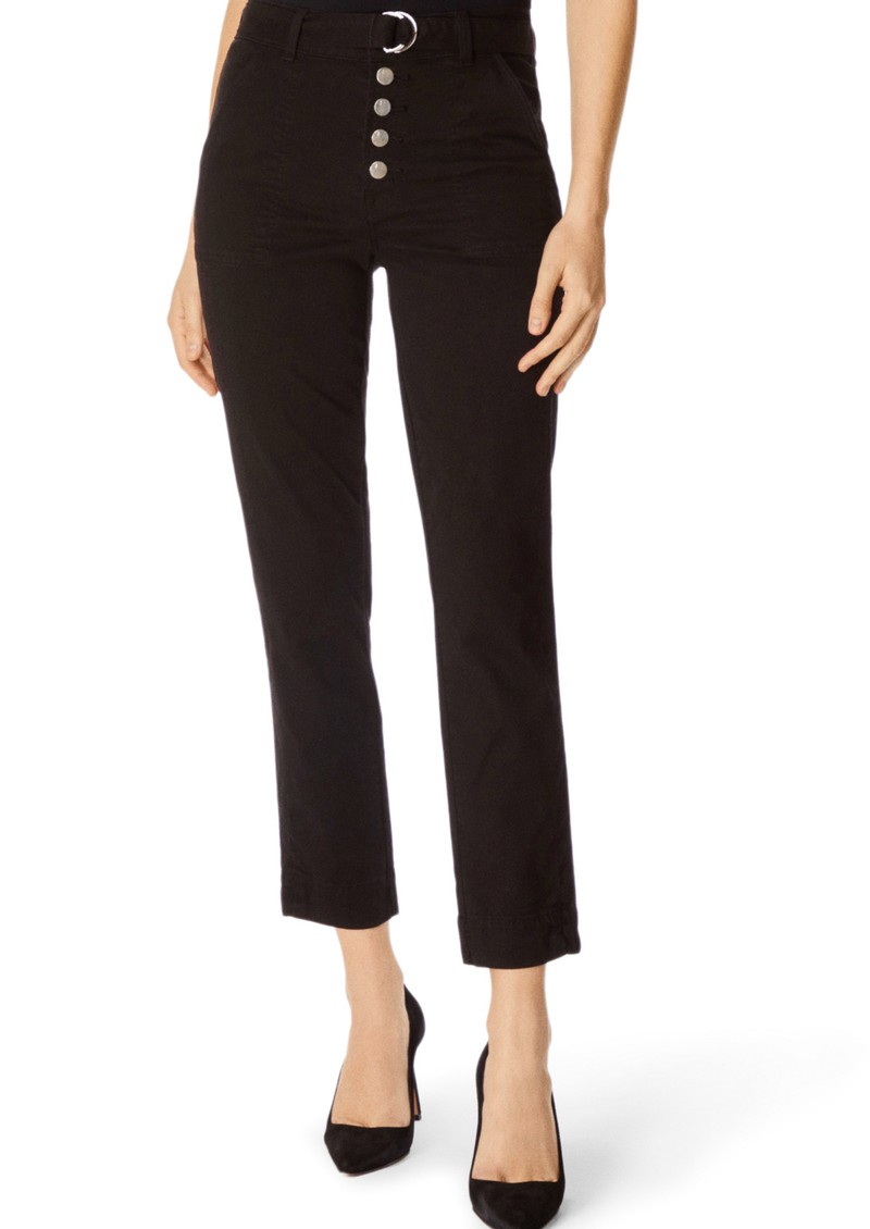 Kyrah High Rise Cropped Cigarette Pant - Black main image