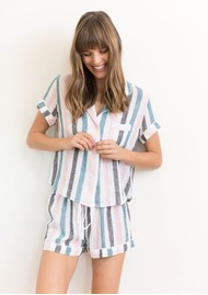 Rails Darcie Short Sleeve Pyjama Set - Watermelon Stripe