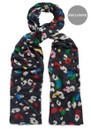 Lily and Lionel Exclusive Dancing Leopard Brights Scarf - Black