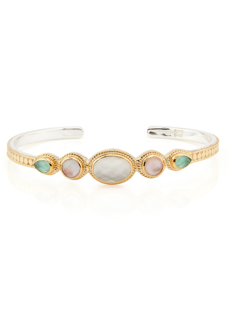 ANNA BECK Morning Glory Guava & Amethyst Multi Stone Cuff - Gold main image