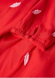 FABIENNE CHAPOT Natasja Embroidery Dress - Romance Red & Loco Lips