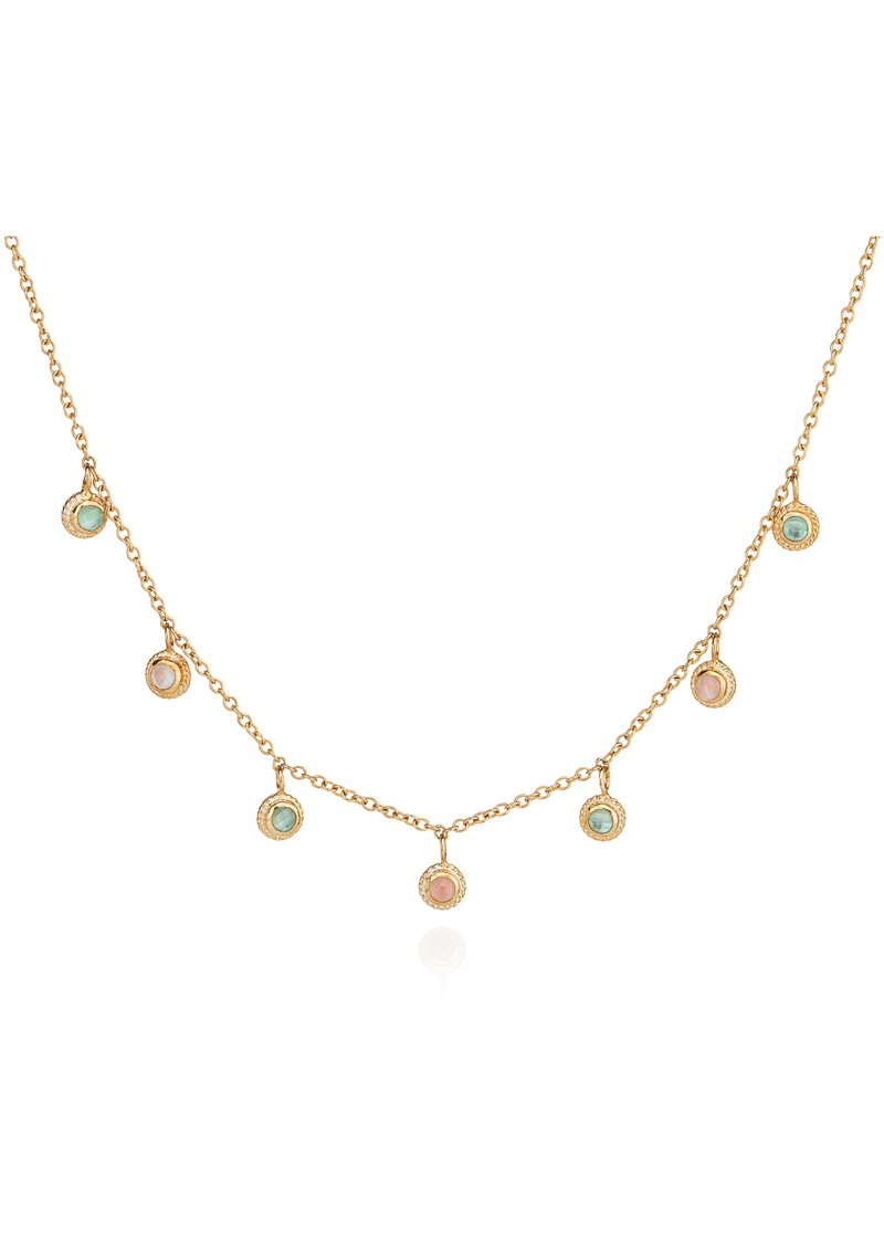 ANNA BECK Morning Glory Guava & Green Amethyst Collar Necklace - Gold main image
