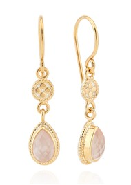 ANNA BECK Morning Glory Guava Double Drop Earrings - Gold