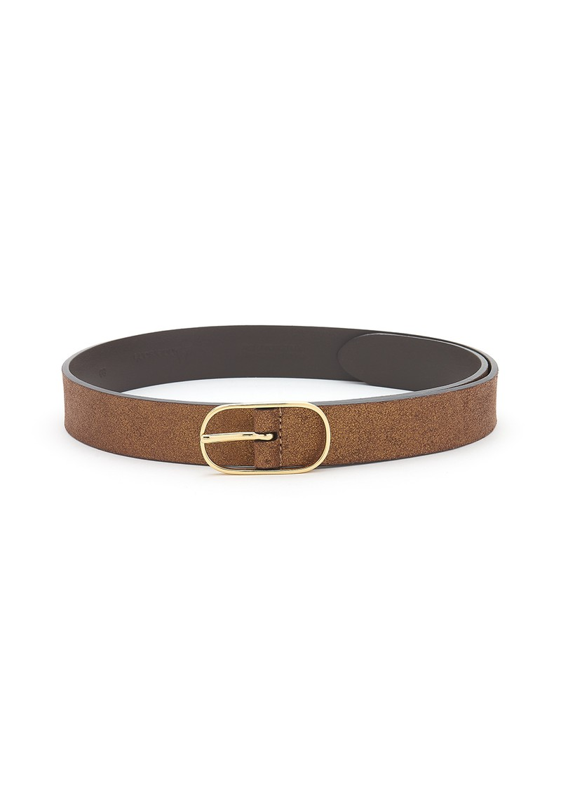 ANDERSONS Metallic Leather Belt - Brown Metallic main image