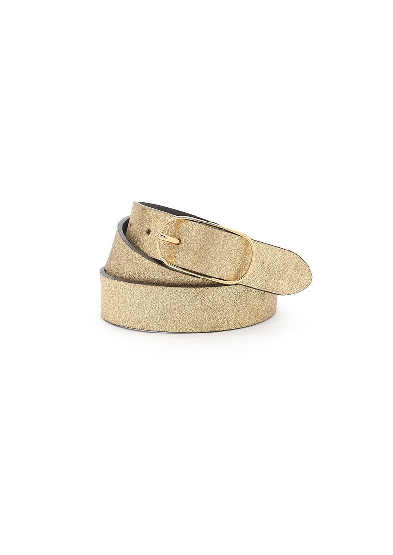 ANDERSONS Metallic Leather Belt - Brown & Gold main image