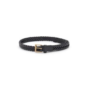 Woven Leather Belt - Black