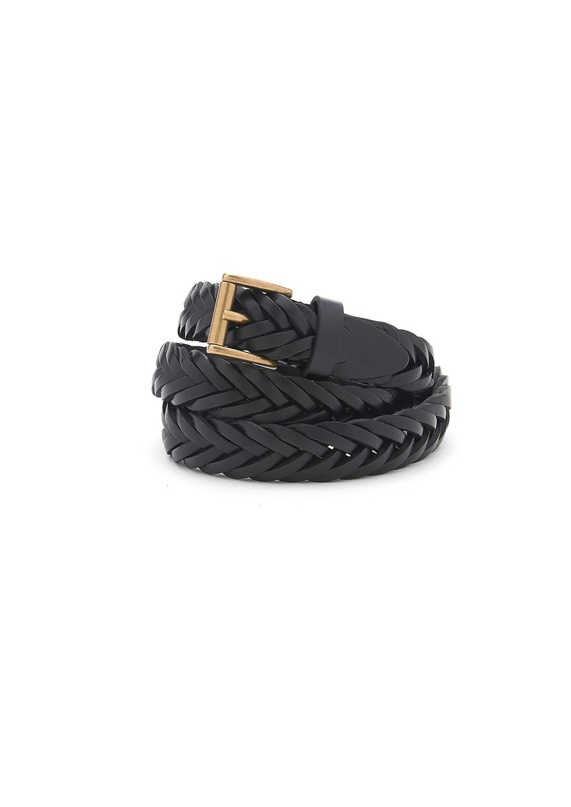 ANDERSONS Woven Leather Belt - Black main image