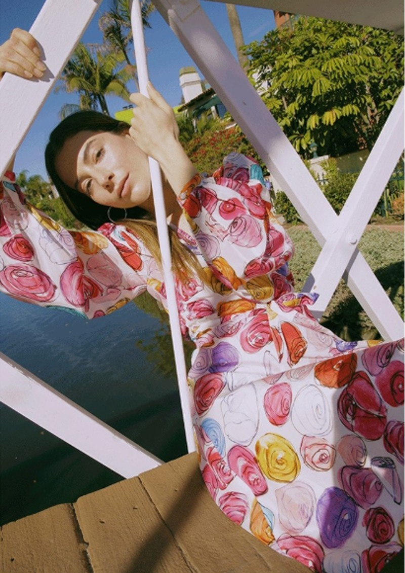 FABIENNE CHAPOT Ema Clio Wrap Dress - Roses and Rose main image