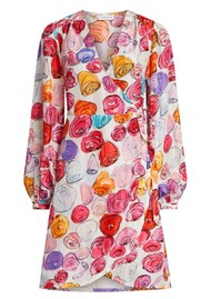 FABIENNE CHAPOT Ema Clio Wrap Dress - Roses and Rose