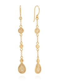 ANNA BECK Morning Glory Beaded Triple Drop Earrings - Gold