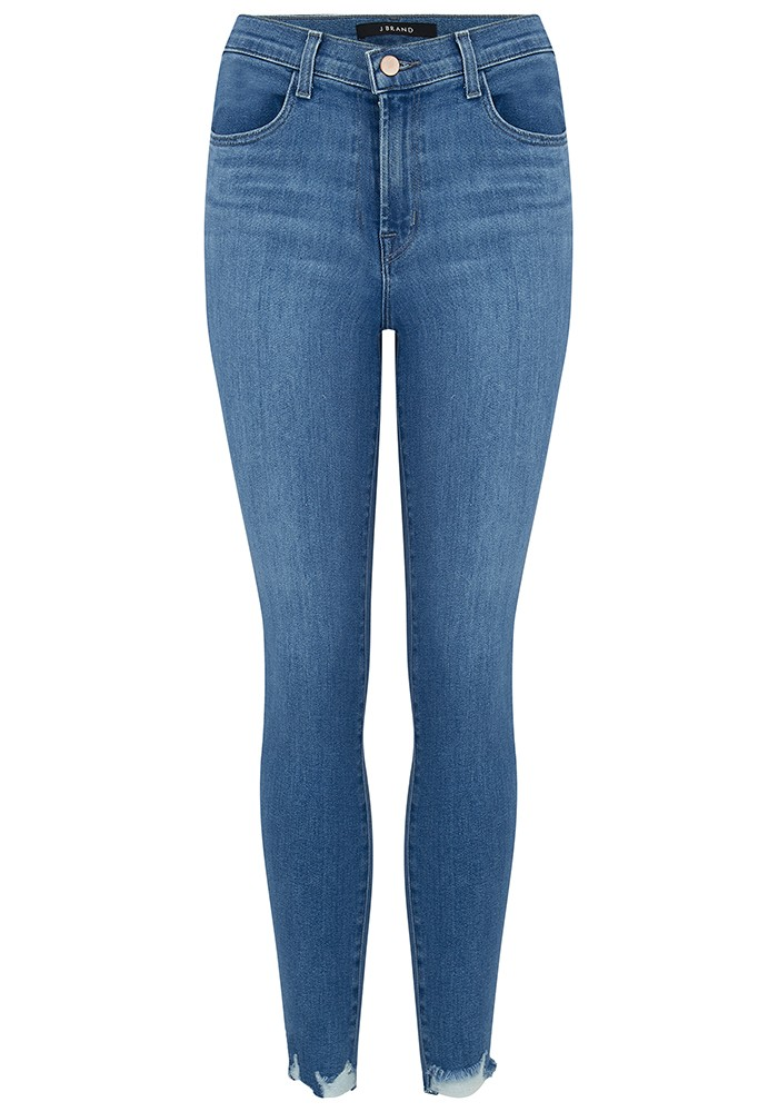 Alana High Rise Cropped Skinny Jeans - True Love Destruct main image