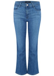 J Brand Selena Mid Rise Cropped Boot Cut Jeans - True Love