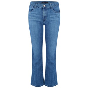 Selena Mid Rise Cropped Boot Cut Jeans - True Love