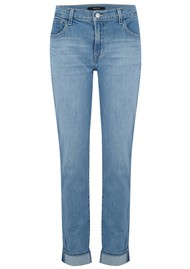 J Brand Johnny Mid Rise Boyfriend Jeans - Fortuny