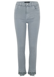 J Brand Ruby High Rise Cropped Cigarette Jeans - Georgetown Lace