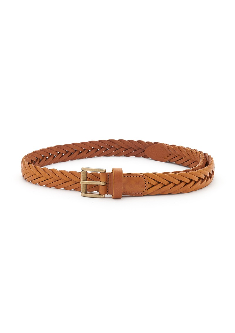 Woven Leather Belt - Tan main image