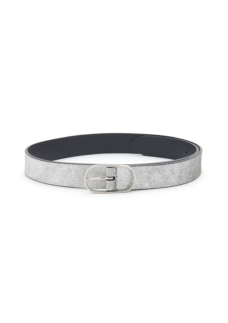 ANDERSONS Metallic Leather Belt - Silver main image