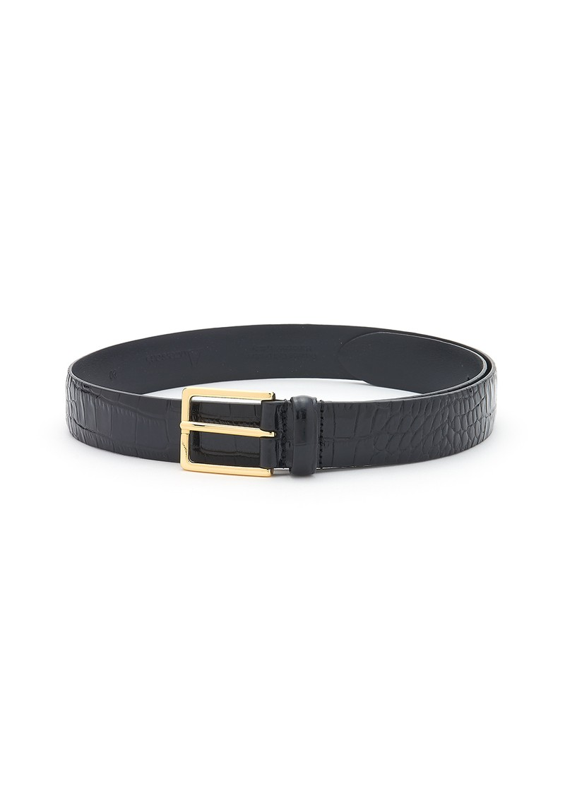 ANDERSONS Crocodile Effect Leather Belt - Black main image