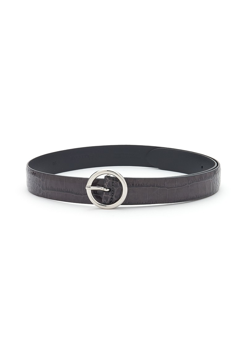ANDERSONS Crocodile Leather Belt - Black main image
