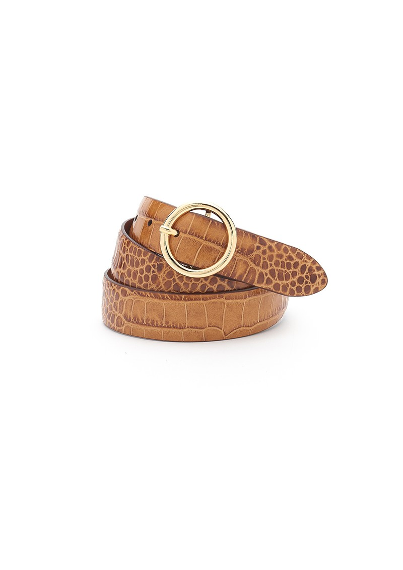 ANDERSONS Crocodile Effect Leather Belt - Tan  main image
