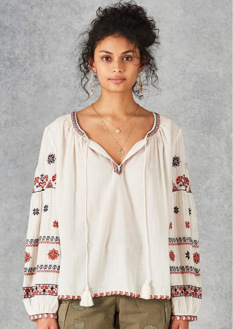 Star Mela Rilla Embroidered Blouse - Ecru main image