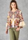 Star Mela Meli Embellished Jacket - Ecru Multi