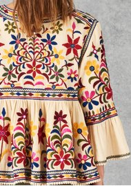 Star Mela Meli Embellished Jacket - Ecru Multi