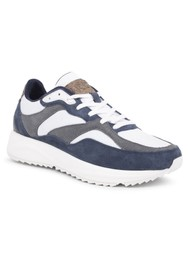 WODEN Sophie Trainers - Bright White & Navy