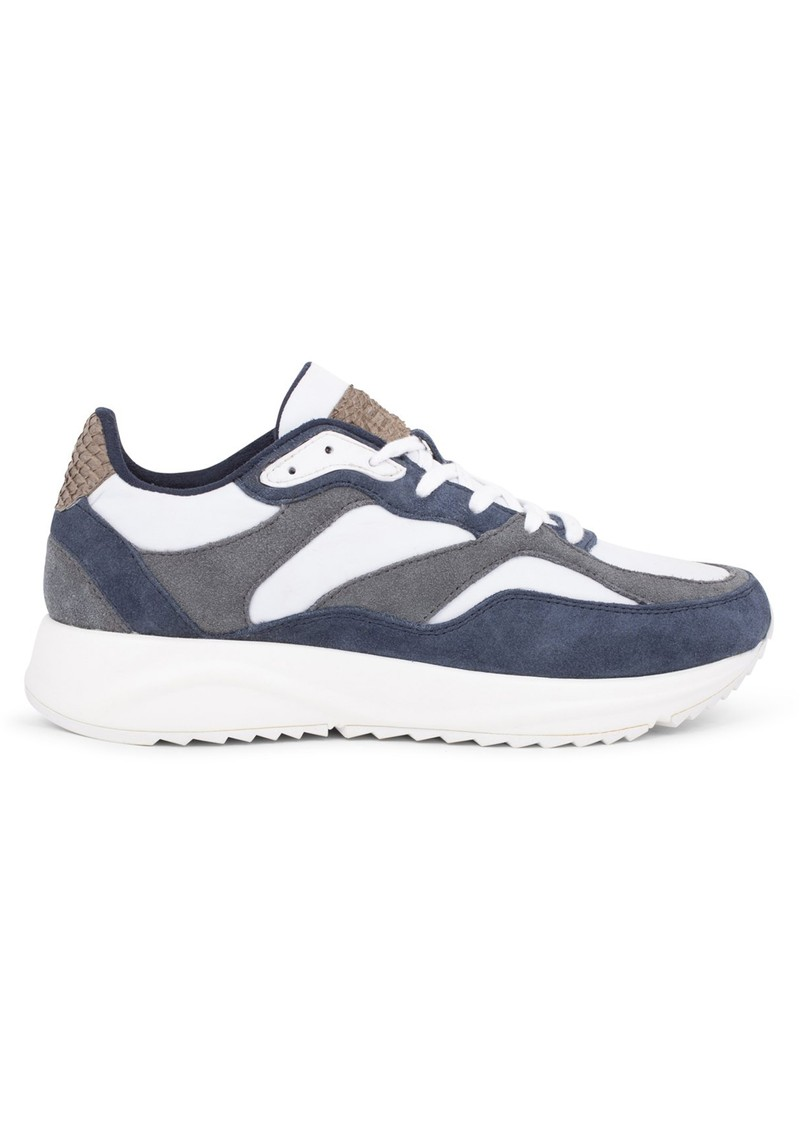 WODEN Sophie Trainers - Bright White & Navy main image