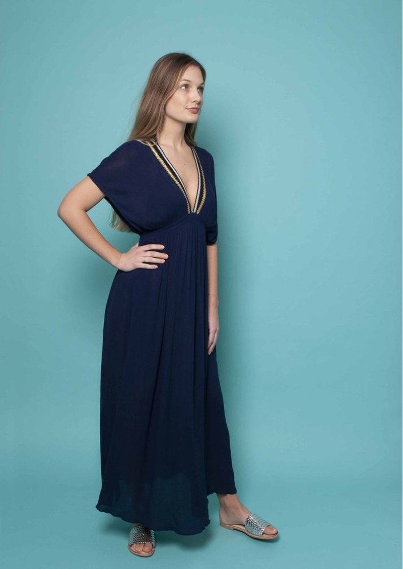 NOOKI Lagoon Maxi Dress - Navy main image