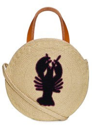 NOOKI Jute Round Shopper - Lobster