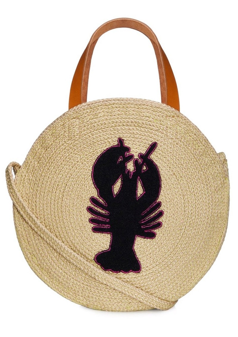 Jute Round Shopper - Lobster main image