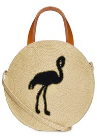 NOOKI Jute Round Shopper - Flamingo