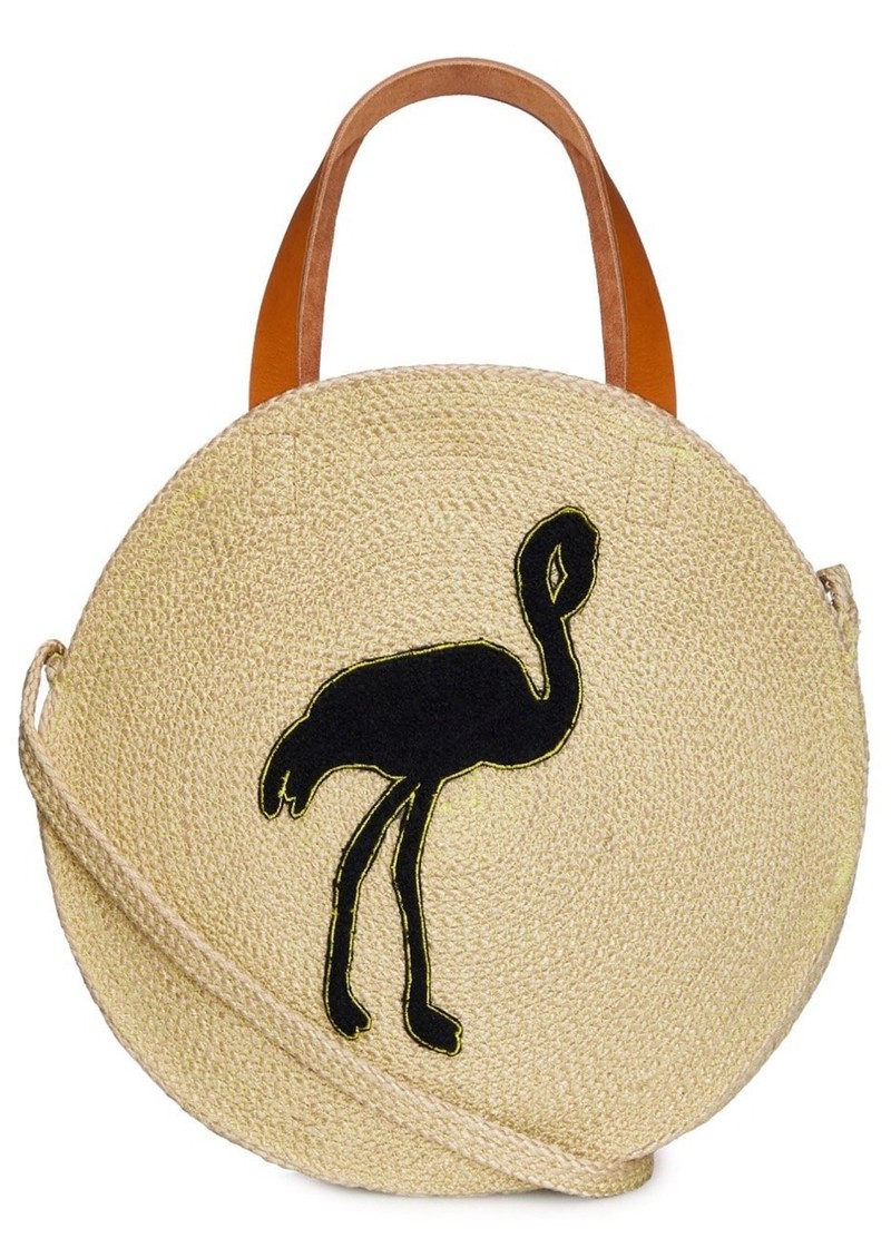 NOOKI Jute Round Shopper - Flamingo main image