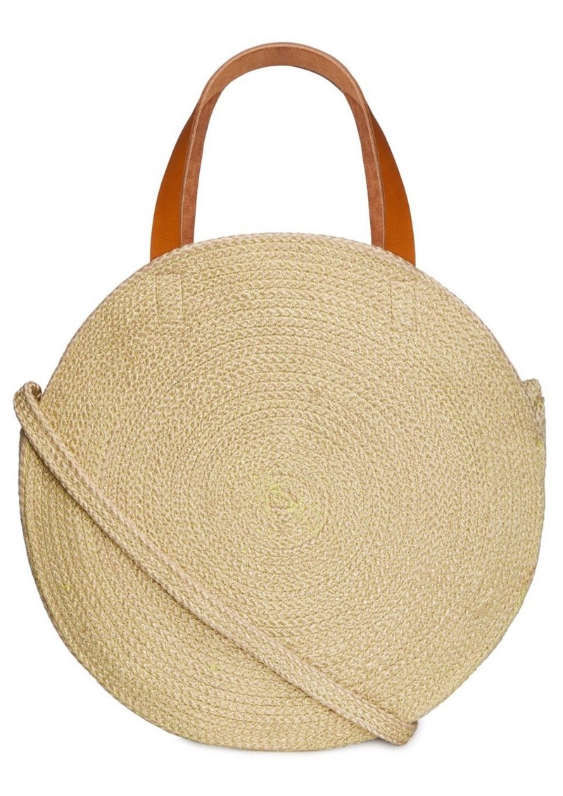 Jute Round Shopper - Flamingo main image