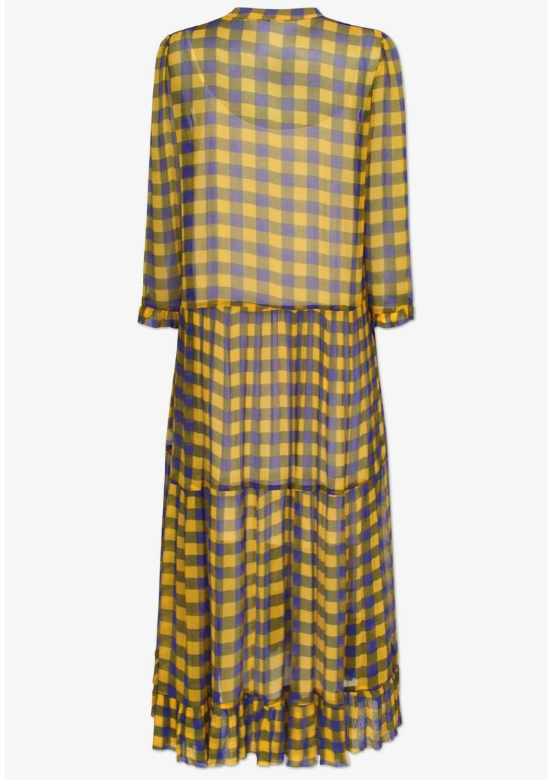BAUM UND PFERDGARTEN Alexondra Dress - Golden Black Check main image