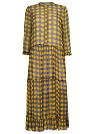 BAUM UND PFERDGARTEN Alexondra Dress - Golden Black Check