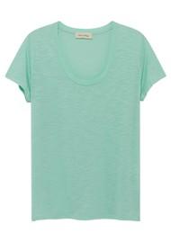 American Vintage Jacksonville U Neck Short Sleeve Tee - Seagreen