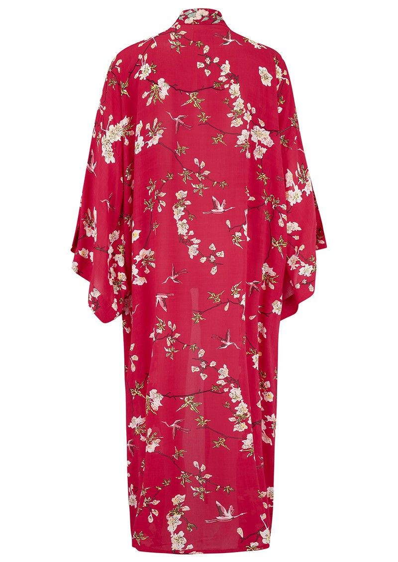 TRIBE + FABLE Kyoto Kimono Jacket - Red main image
