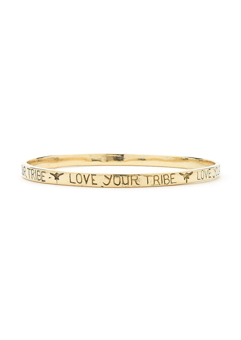 Love Your Tribe Bangle - Gold main image
