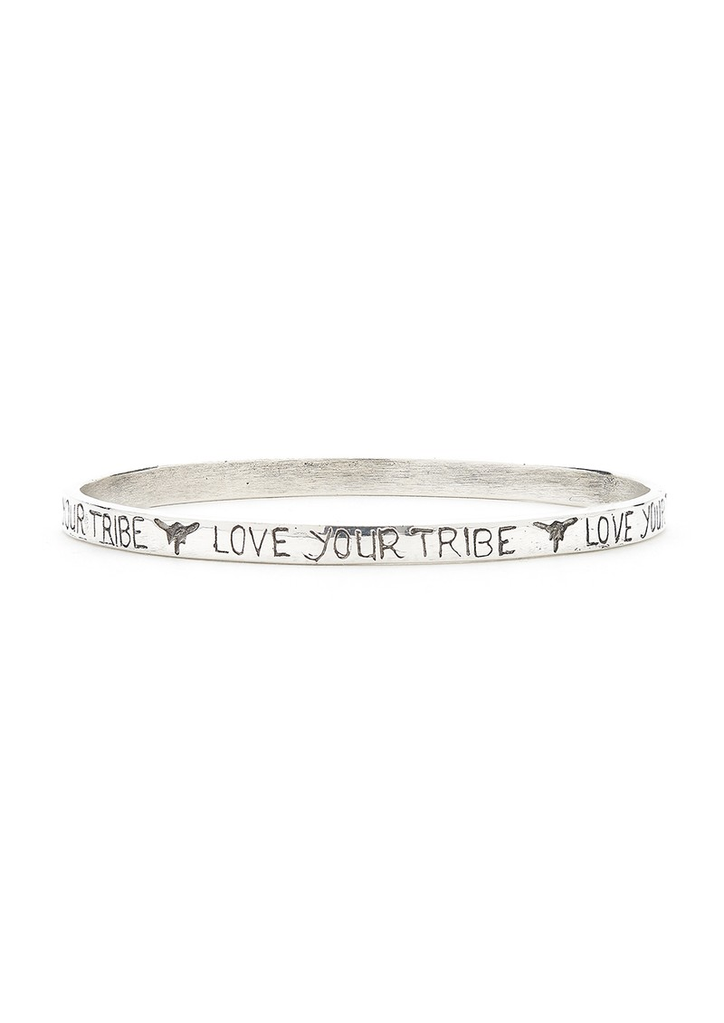 TRIBE + FABLE Love Your Tribe Bangle - Silver main image