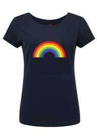 ON THE RISE Rainbow Tee - Navy