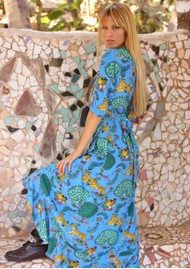 STARDUST Flamenco Maxi Dress - Blue