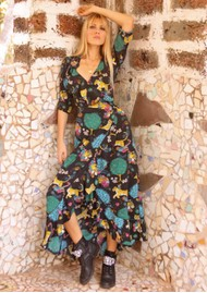 STARDUST Flamenco Maxi Dress - Black