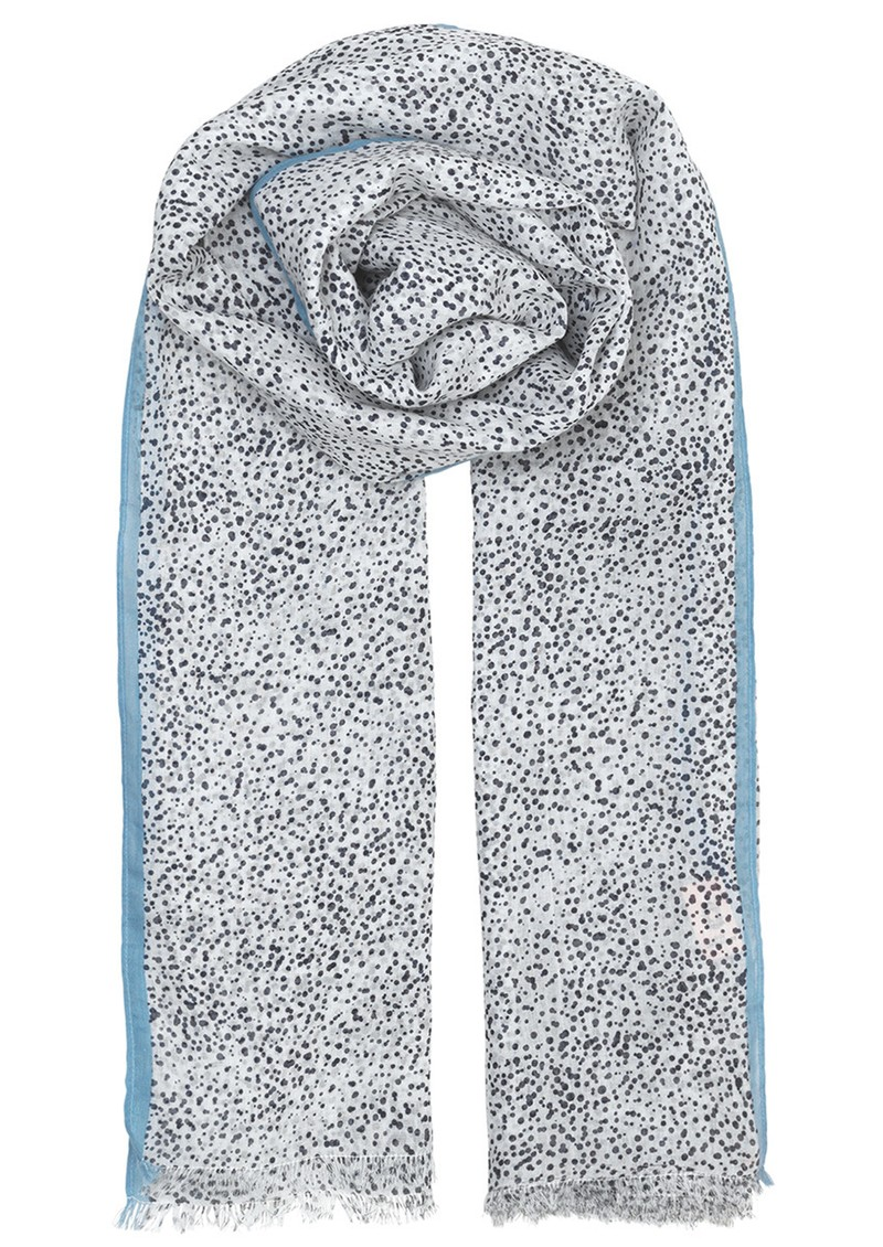 Becksondergaard Inky Dots Cotton Scarf - Dark Navy main image