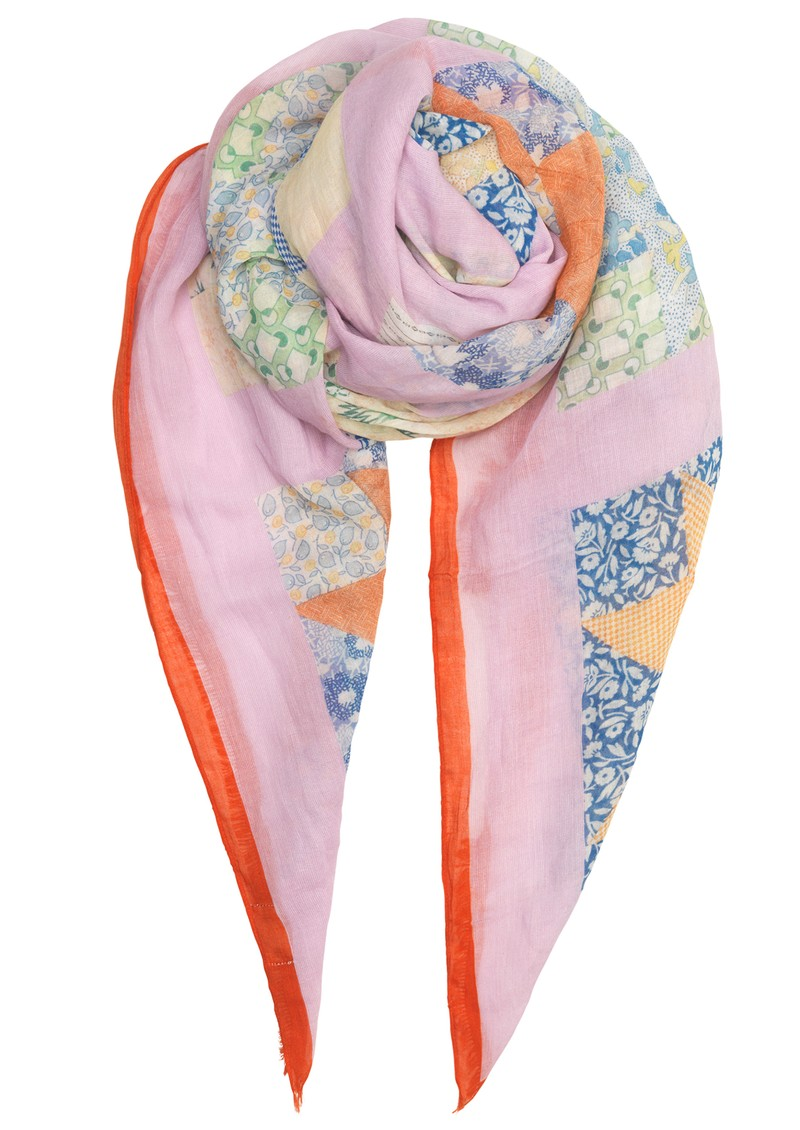 Pepe Patch Cotton Scarf - Multi main image