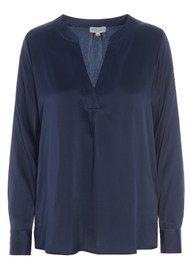 DEA KUDIBAL Santena Silk Blouse - Navy