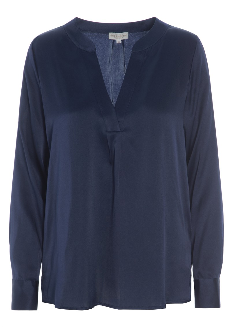 DEA KUDIBAL Santena Silk Blouse - Navy main image